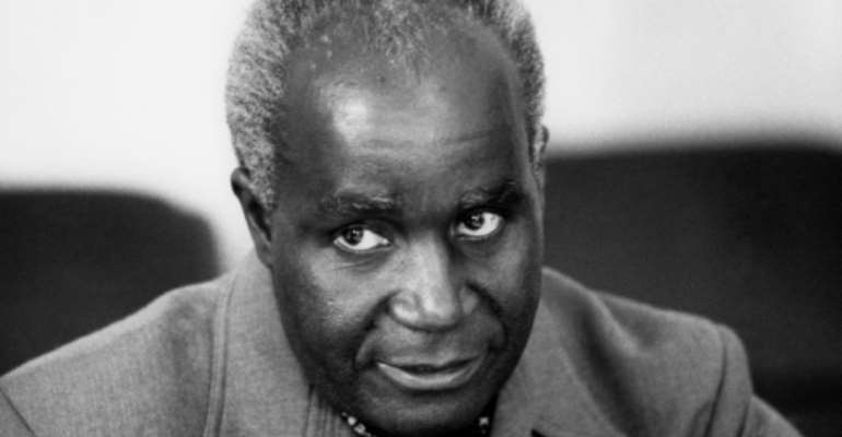 Kenneth Kaunda, dubbed 'Africa's Ghandi' and Zambia's first president ruling for 27 years, died in 2021.  By - (LEHTIKUVA/AFP/File)