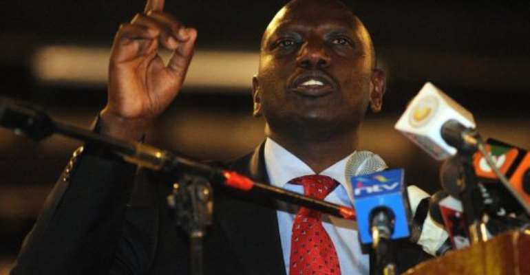 Ruto faces three counts of murder, forcible transfer and persecution.  By Simon Maina (AFP)