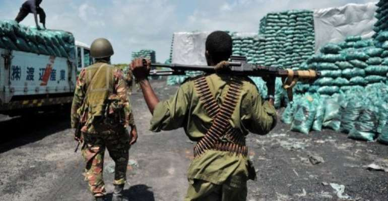 The Somalian port village of Burgabo has been secured by Kenyan forces as they advance in search of Al-Shebab fighters.  By Carl de Souza (AFP/File)