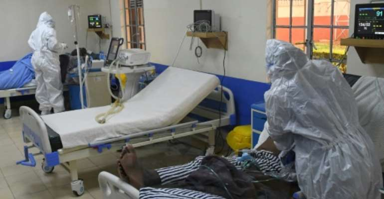 Kenyan hospitals are struggling to cope with a surge of Covid cases.  By Simon MAINA (AFP/File)