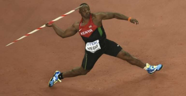 Kenya's Julius Yego has won world javelin gold with the third longest throw of all time in Beijing.  By Antonin Thuillier (AFP)