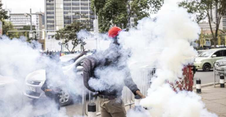 Kenyans have taken to the streets to protest alleged police brutality.  By Patrick Meinhardt (AFP/File)