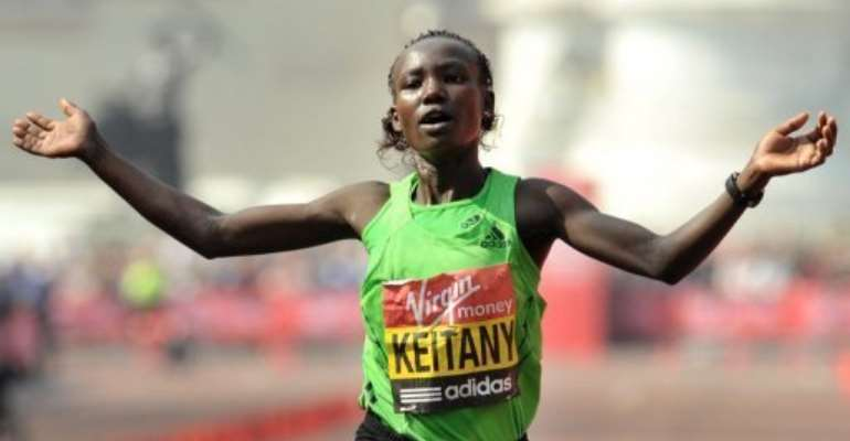 Mary Keitany.  By Ben Stansall (AFP/File)