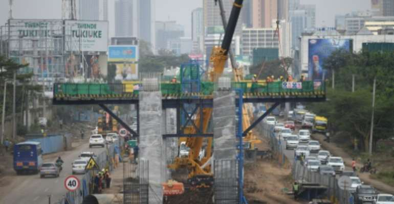 Kenya's construction sector grew strongly in 2020 despite Covid.  By Simon MAINA (AFP)