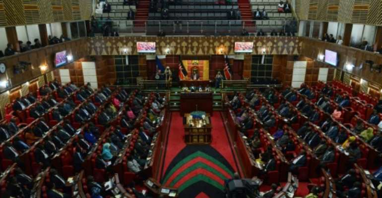 Kenya's current male-dominated parliament has repeatedly rejected legislation that states no more than two thirds of lawmakers should be men.  By SIMON MAINA (AFP/File)