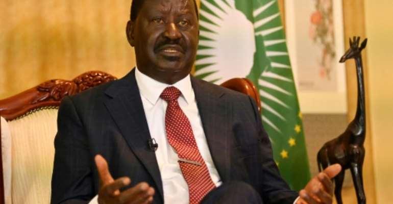 Kenya's opposition leader Raila Odinga tells AFP his truce with former foe President Uhuru Kenyatta returned peace to the country.  By Simon MAINA (AFP)