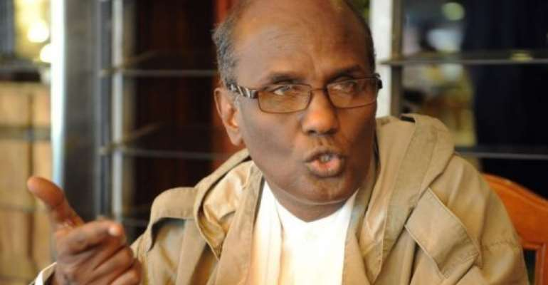 Somali defence minister Mohamed Abdi Mohamed -- also known as Gandhi, pictured in Nairobi.  By Simon Maina (AFP)
