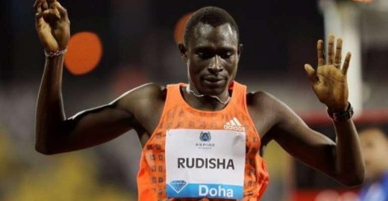 David Rudisha is the world 800m record holder.  By Karim Jaafar (AFP/File)