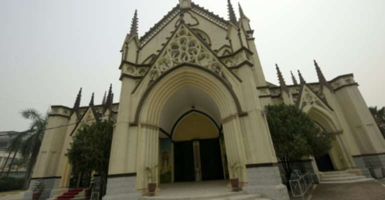 The Holy Cross Cathedral in Lagos was designed by African slave artisans from Brazil.  By Pius Utomi Ekpei (AFP/File)