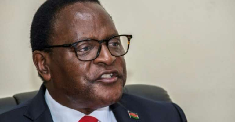 Lazarus Chakwera, leader of the Malawi Congress Party.  By AMOS GUMULIRA (AFP)