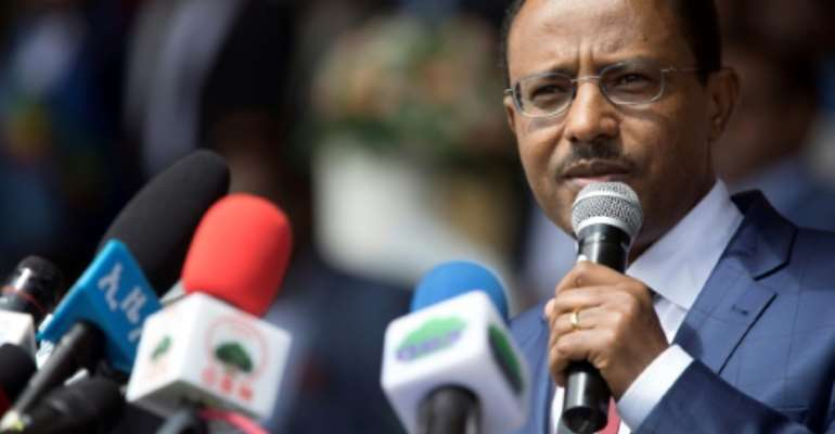 Lemma Megersa, a former close ally of Ethiopian Prime Minister Abiy Ahmed, has been replaced as defence minister.  By Zacharias Abubeker (AFP/File)