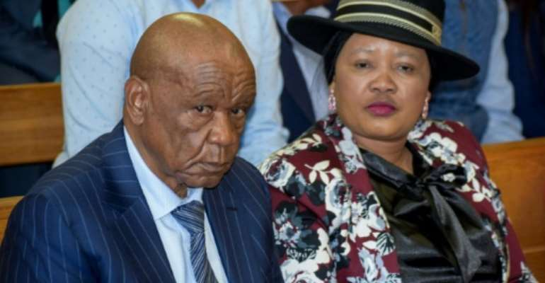 Lesotho PM Tom Thabane is under pressure to resign over the murder of his estranged wife -- his current wife, pictured, has been charged.  By MOLISE MOLISE (AFP/File)