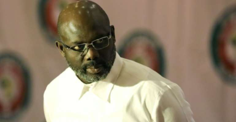 Liberian President, George Weah made his announcement after thousands of Liberians protested rising incidents of rape in the capital Monrovia last month..  By Kola SULAIMON (AFP)