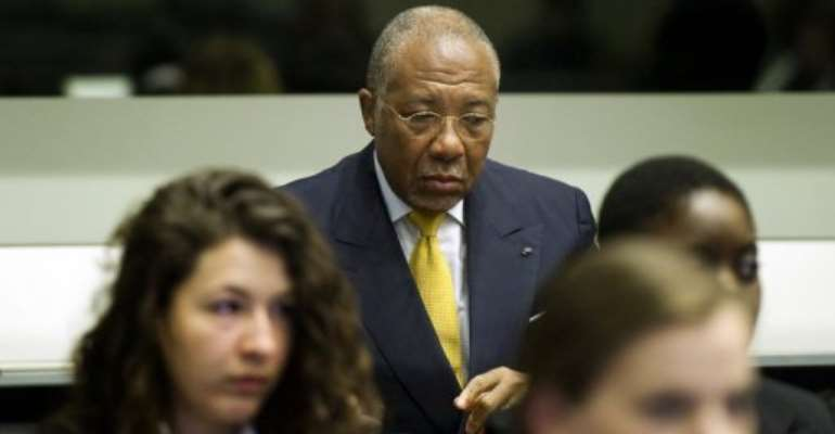 A trial chamber today unanimously sentenced Charles Taylor to 50 years in jail.  By Toussaint Kluiters (AFP)