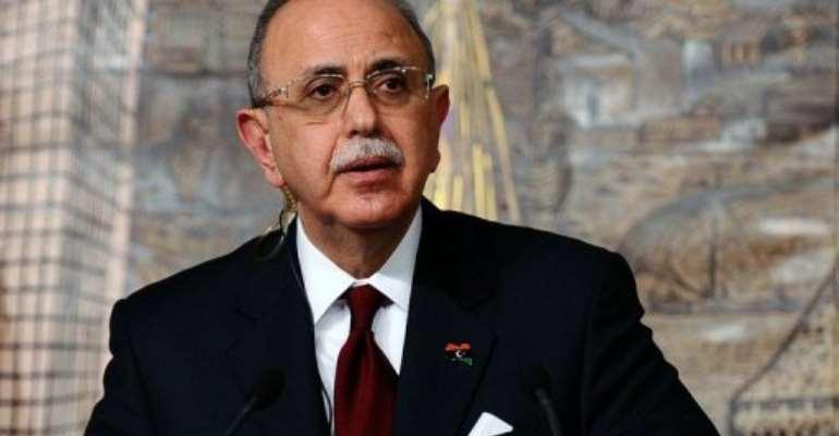 Libya's Prime Minister Abdel Rahim al-Kib.  By Mustafa Ozer (AFP/File)