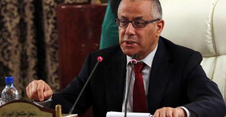Libyan Prime Minister Ali Zeidan speaks during a press conference in Tripoli on October 30, 2013.  By Mahmud Turkia (AFP/File)