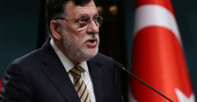 Libyan leader Fayez al-Sarraj has said he plans to step down.  By Adem ALTAN (AFP)
