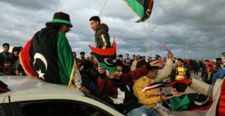 Libyans marked a decade since the 2011 revolution in February.  By Abdullah DOMA (AFP/File)