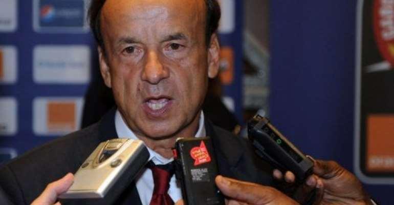 Gabon's coach Gernot Rohr.  By Voishmel (AFP/File)
