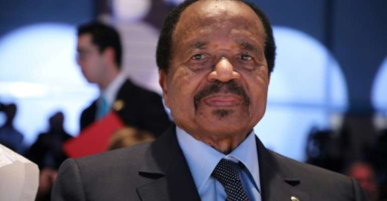 Longevity: President Paul Biya has been in power since 1982.  By Ludovic MARIN (AFP)
