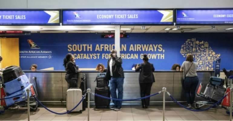 Loss-making South African Airways has secured a state-led rescue.  By Michele Spatari (AFP)