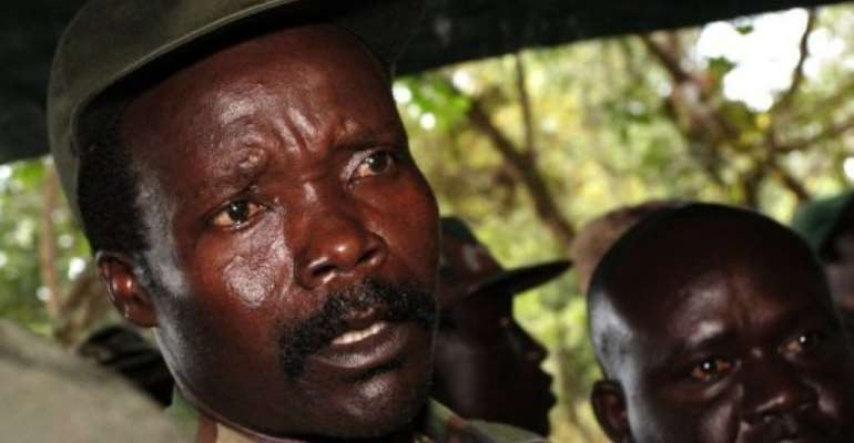 A rescued woman said that the camp's leader was in contact with LRA leader Joseph Kony, seen here in 2006.  By Stuart Price (AFP/POOL/File)