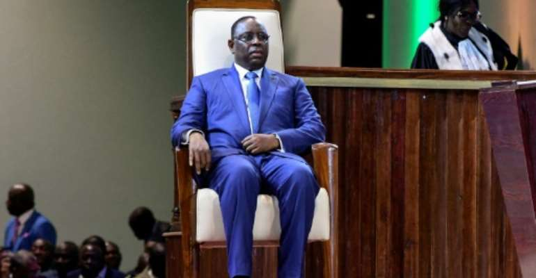 Macky Sall was sworn in for his second term as Senegal's president last week.  By SEYLLOU (AFP)