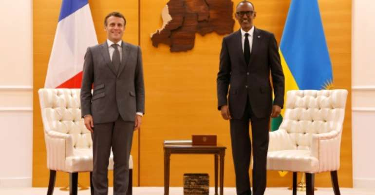 Macron kicks off a highly symbolic visit to Rwanda after three decades of diplomatic tensions.  By Ludovic MARIN (AFP)