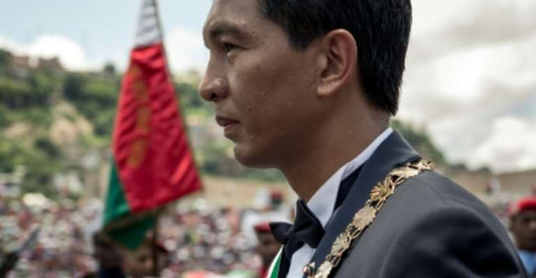 Madagascar's President Andry Rajoelina has pledged to fight corruption in the Indian Ocean island nation.  By RIJASOLO (AFP)