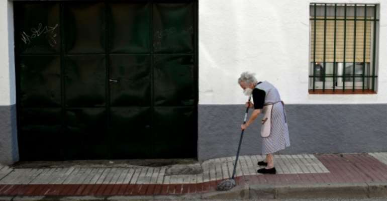 Madrid residents have been advised to keep social contacts and movements to a minimum.  By OSCAR DEL POZO (AFP)