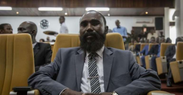 Mahamat Al Khatim is leader of the Patriotic Movement for Central Africa (MPC) and one of the most powerful militia warlords.  By FLORENT VERGNES, FLORENT VERGNES (AFP)