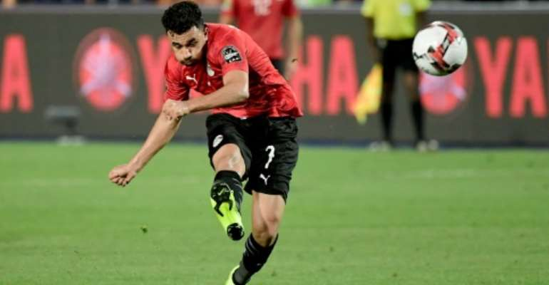 Mahmoud Trezeguet scored to complete a 3-0 win for Egypt over Togo Tuesday in a 2021 Africa Cup of Nations qualifier..  By JAVIER SORIANO (AFP)
