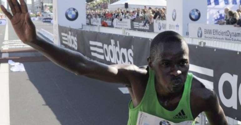 Patrick Makau.  By Odd Andersen (AFP/File)