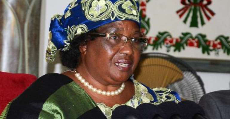 Malawi President Joyce Banda speaks during a press conference at the Kamuzu Palace in Lilongwe, on May 24, 2014.  By  (AFP/File)
