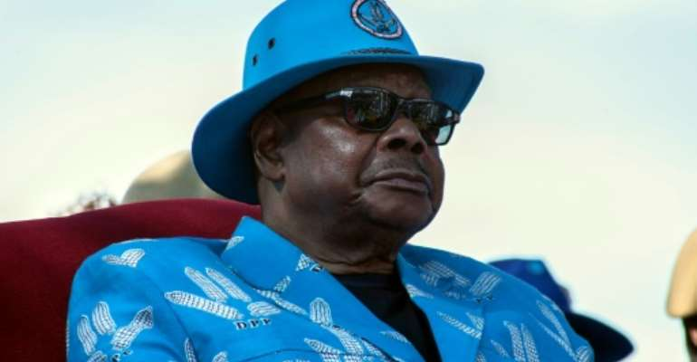 Malawi's President Peter Mutharika is hoping his record will be enough to get him re-elected for a second term.  By AMOS GUMULIRA (AFP)