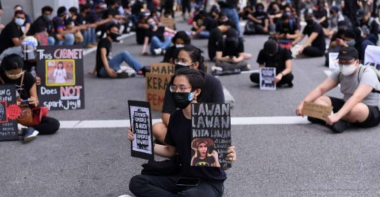 Malaysians took part in a rare anti-government rally over in Kuala Lumpur over Covid-related restrictions.  By Arif KARTONO (AFP)