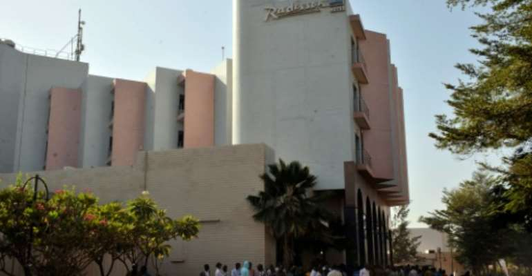 Security at the Radisson Blu hotel in Bamako has been beefed up following the deadly attack last month.  By Habibou Kouyate (AFP/File)