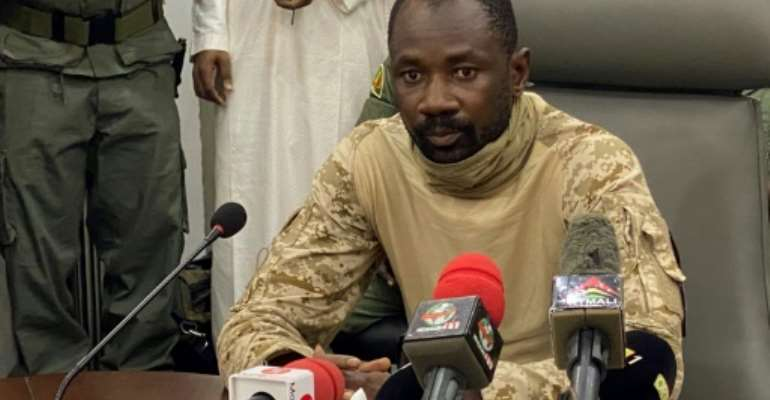 Mali's new strongman, Colonel Assimi Goita, and his junta have proposed a military-led transitional body to rule for three years.  By MALIK KONATE (AFP/File)