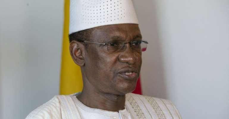 Mali's Prime Minister Choguel Maiga attends an interview with AFP on September 26, 2021 in New York.  By KENA BETANCUR (AFP)
