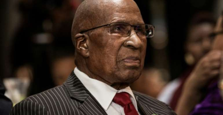 Man of history: Andrew Mlangeni, who has died at the age of 95.  By GULSHAN KHAN (AFP/File)