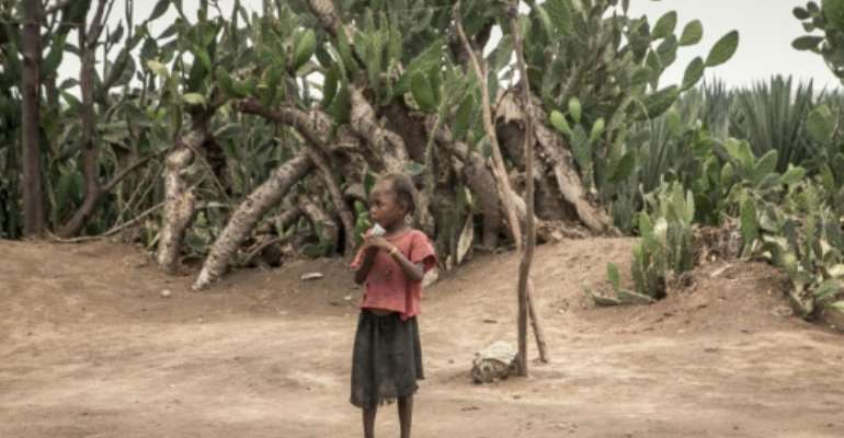 Many children have been suffering from malnutrition through year after year of drought in southern Madagascar.  By RIJASOLO (AFP/File)