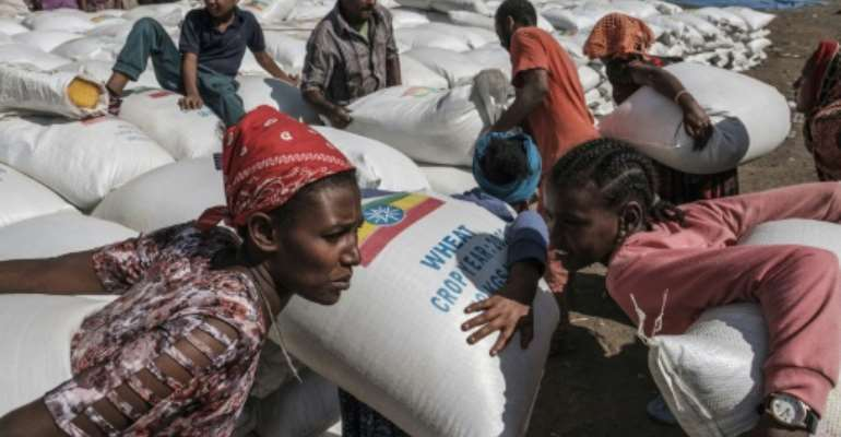 Many people in Tigray are dependent on food handouts after months of fighting.  By EDUARDO SOTERAS (AFP/File)