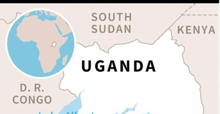 Map locating fuel truck explosion in Kyambura.  By  (AFP)