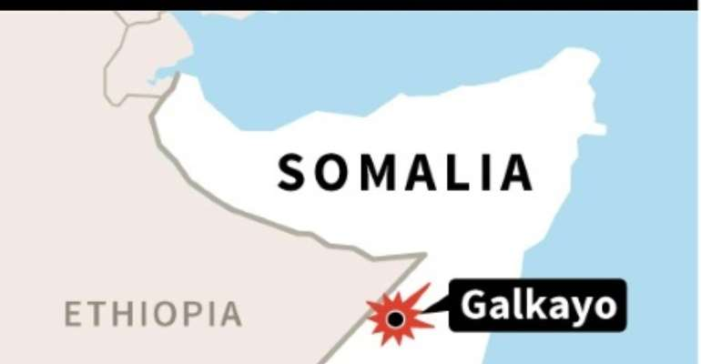 Map locating Galkayo in Somalia, where the US military conducted an air strike targeting Al-Shabaab militants.  By AFP (AFP/File)