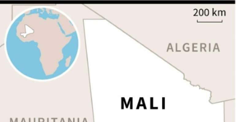 Map locating the village of Sobane-Kou in Mali.  By AFP (AFP)