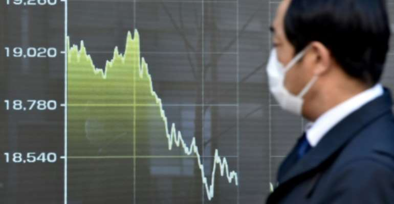 Markets were not euphoric about the Fed decision.  By Kazuhiro NOGI (AFP)