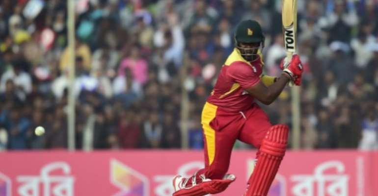 Zimbabwe batsman Hamilton Masakadza hit 93 off 58 balls, the highest innings by a Zimbabwean in a T20 international, as the southern Africans reached 180-4 against Bangladesh.  By Munir Uz Zaman (AFP)