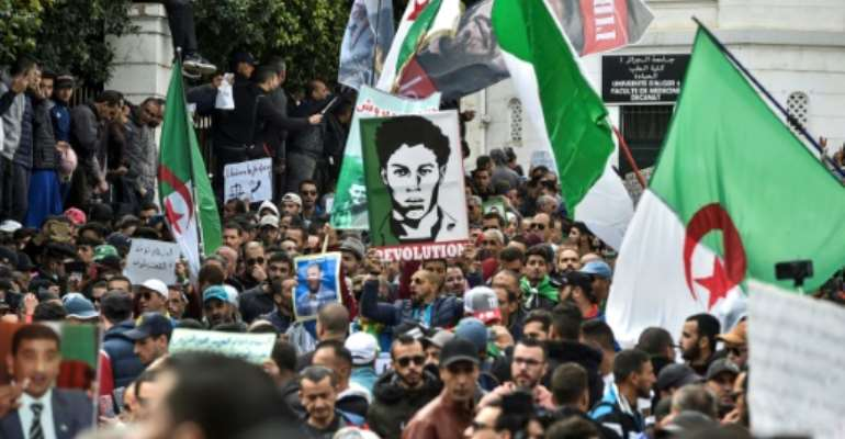 Mass protests by Algerians angry at corruption and cronyism led to the resignation of president Abdelaziz Bouteflika last year.  By RYAD KRAMDI (AFP/File)