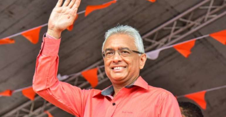 Mauritius's Prime Minister Pravind Jugnauth is seeking a popular mandate after being installed in the top job when his father stepped down in 2017.  By Beekash ROOPUN (L'Express Maurice/AFP)