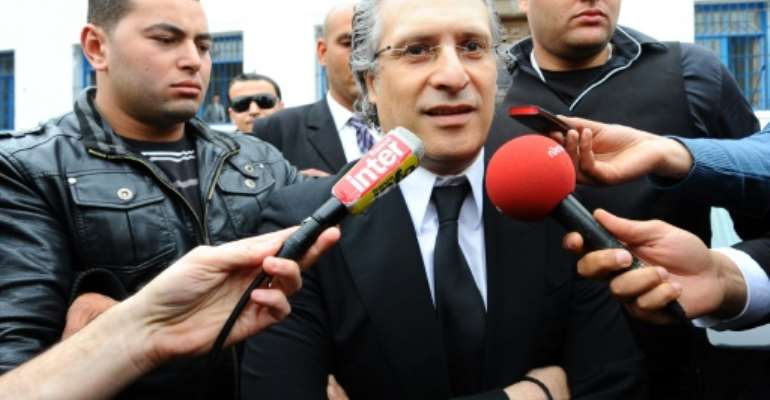 Media magnate Nabil Karoui is looking to become Tunisia's president at elections in November.  By FETHI BELAID (AFP)